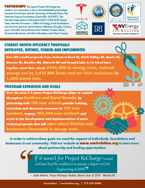 Project ReCharge Fact Sheet 2019